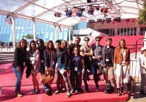 alumnos de catalonia en el festival de cannes