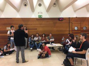alumnos de CATFAS en el festival de cine de San Sebastián